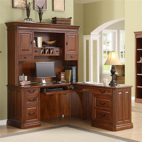 Home Office Furniture Virginia L Shaped Desk With Hutch Lshaped Desk With Hutch Home Office Modern Traditional Home Office