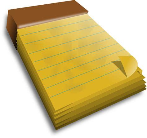 pad free notepad clip at clker vector clip