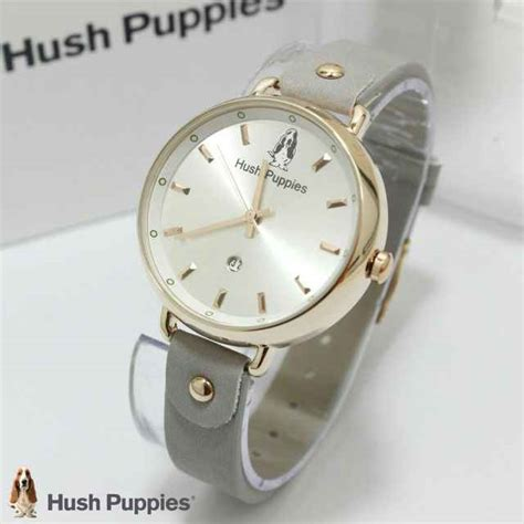 jual jam tangan hush puppies hp 3802 tali kulit ring gold harga murah