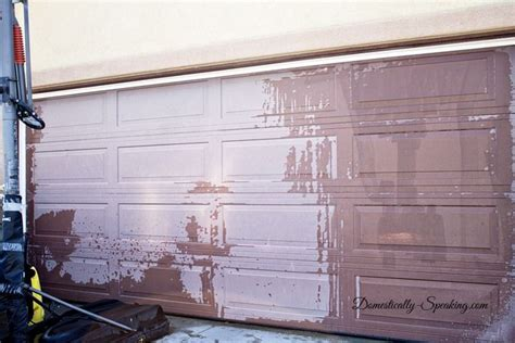 Garage Door Stain Diy Garage Door Makeover With Stain