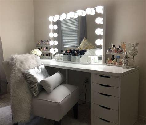 vanity ideas ikea linnmon tabletop   ikea alex  drawer units hollywood glow pro mirror