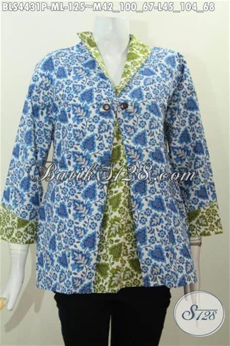 Desain Jas Mewah | baju blus 2 warna biru dan hijau hadir dengan desain jas