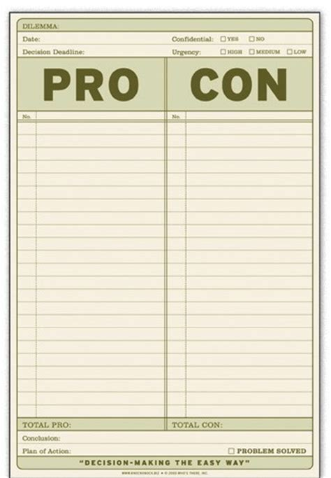 pro con list template how to a pro and con list list producer