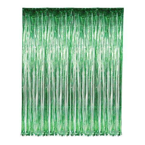 foil fringe curtains dr69251 green foil fringe curtain