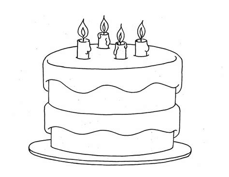 Printable Birthday Cake Coloring Pages Coloring Me Birthday Cake Colouring Pages