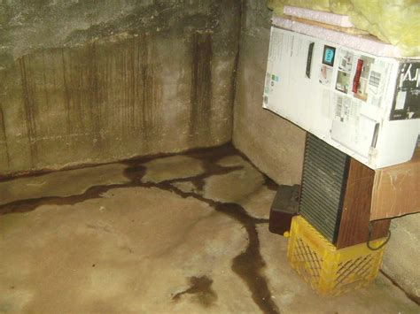 woods basement systems inc basement waterproofing before