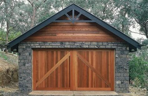 rustic garage doors way to add flair to your home s image