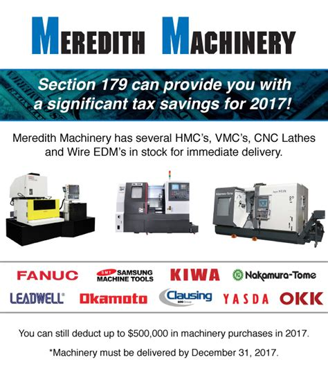 section 179 used equipment section 179 tax incentive meredith machinery