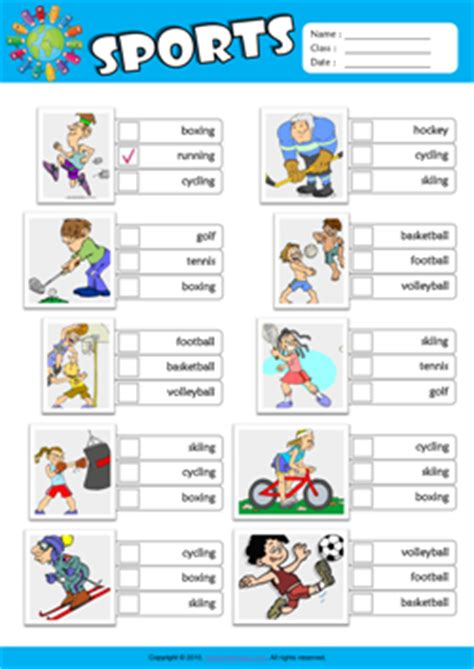 Sports Vocabulary Worksheet by Sports Esl Printable Worksheets For 2