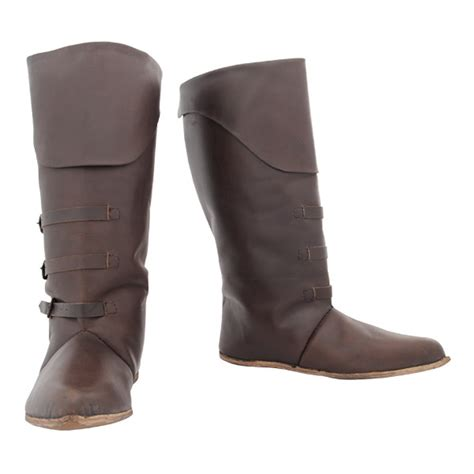mid calf leather boots larp reenactment weaponry