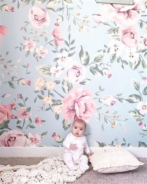girly nursery wallpaper 151 best images about nursery on pinterest shabby chic