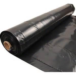 20 x 100 6 mil black plastic sheeting