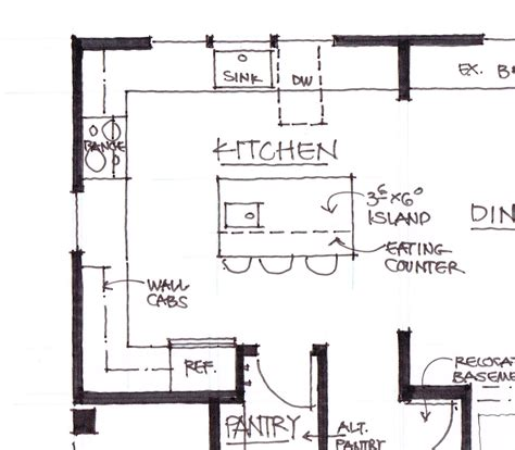 Kitchen Islands Plans plan b is a more open design between the kitchen and dining room with