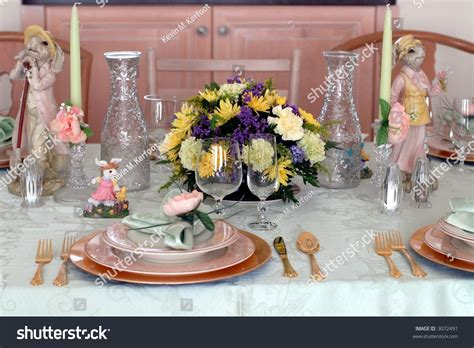 easter dinner table place setting decorations stock photo 3072491 shutterstock