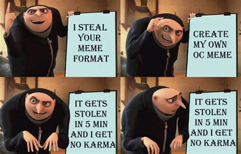 4 Panel Meme Generator - stealing your meme gru s plan know your meme