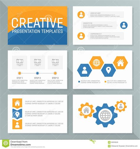 Vector Business Presentation Template Slides Background Design Stock Vector Illustration Of Powerpoint Templates Size Of Slides