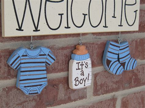 Baby Boy Welcome Home Decorations Welcome Its A Boy Decorations No Sign Included For