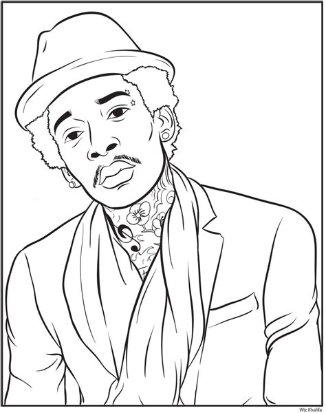 free coloring pages of rappers draw