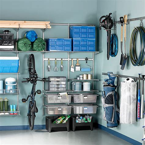 Elfa Garage Shelving Platinum Elfa Utility Garage The Container Store