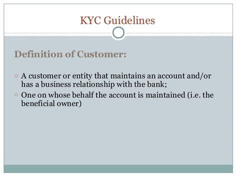 kyc requirements for banks kyc your customer