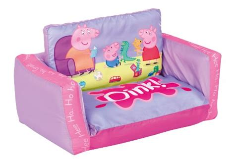 peppa pig flip out sofa peppa pig 2 in 1 inflatable flip out mini sofa and lounger