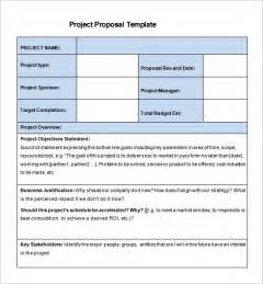 Business Project Proposal Template Project Proposal Template 52 Free Word Ppt Pdf
