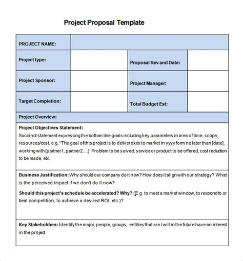 project proposal template 56 free word ppt pdf