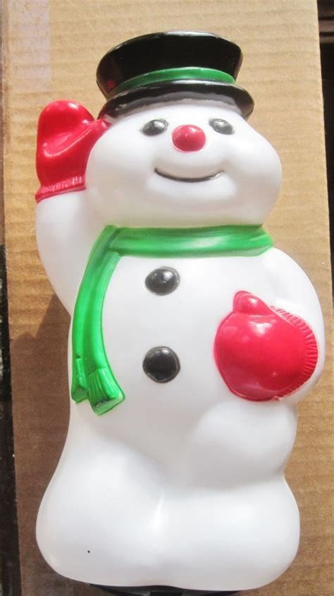 blow mould figure 22 best images about molded snowmen on derby hats 1960s and product page