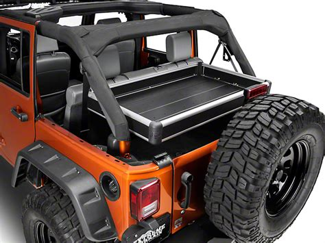 Rear Cargo Rack For Jeep Wrangler Teraflex Wrangler Rear Cargo Rack Side Panel Kit Black