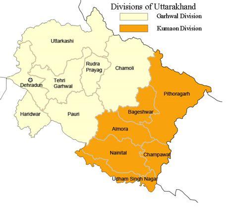 Uttarakhand Search Administrative Divisions Of Uttarakhand