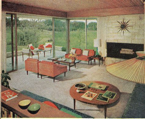 living room 1960 from the american home august 1960