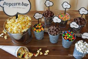 popcorn bar toppings diy popcorn bar with printable labels everyday dishes diy