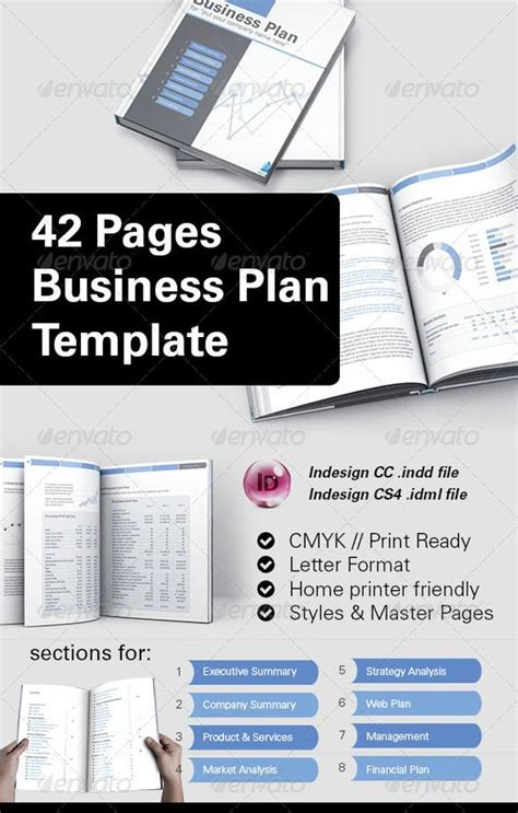 42 Pages Business Plan Template Business Plan Template Business And Templates Indesign Business Plan Template Free