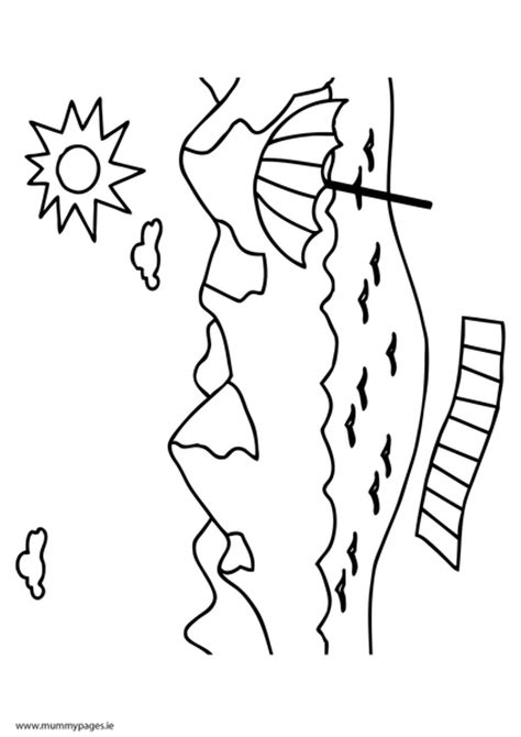 coloring pages seaside seaside holiday