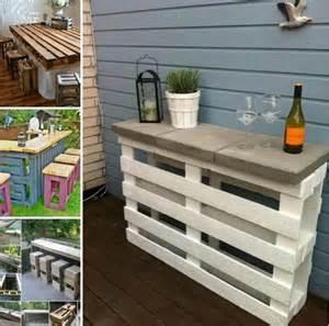 diy patio bar diy pallet patio wine bar usefuldiy