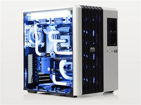 best budget cpu cooler for i7 7700k avalanche ii hardline liquid cooled gaming computer