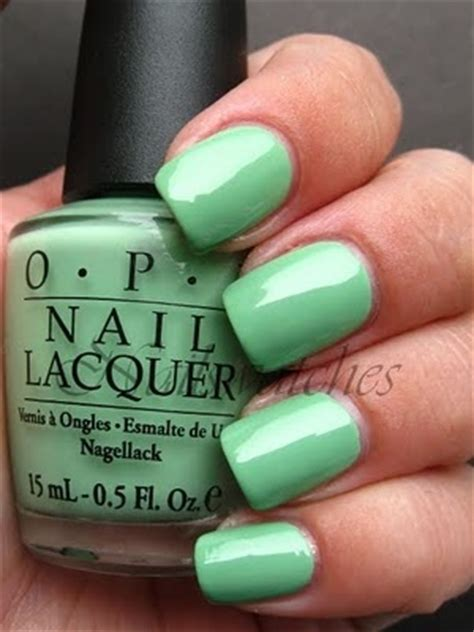Mint Green Nail Polishes by Opi Mint Green Nail Luuux Make Up