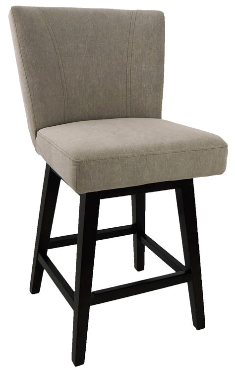 fabric counter stools with backs r 1223 swivel counter stool with back in vintage linen