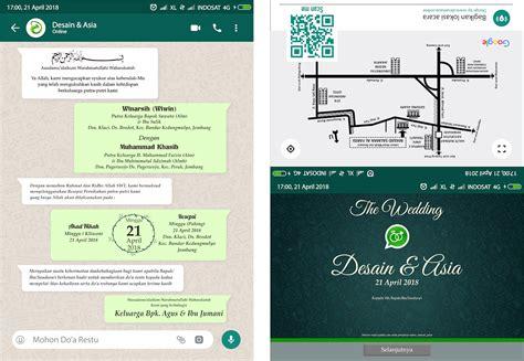 desain undangan pernikahan unik bertema whatsapp