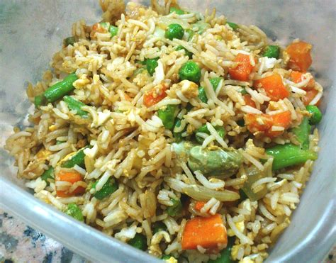 vegetables and rice healthy vegetable fried rice with egg nitu didi