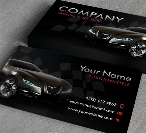 shop business card template 20 cool automotive business cards psds