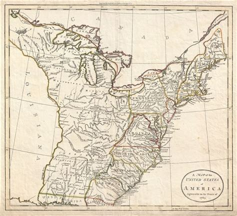 map of the united states in 1783 a map of the united states of america agreeable to the