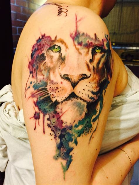 watercolor tattoo lion best 25 watercolor ideas on