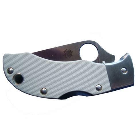 spyderco mggyp g 10 manbug plainedge knife