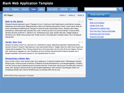Blank Web Application Template By Andrewbrown Themeforest Web Application Templates