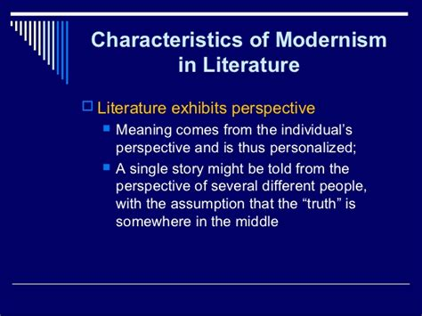 Modernism In Literature Essay literary modernism