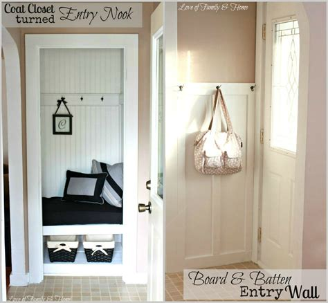 Foyer Nook Ideas by My S New House A Coat Closet Turned Entry Nook