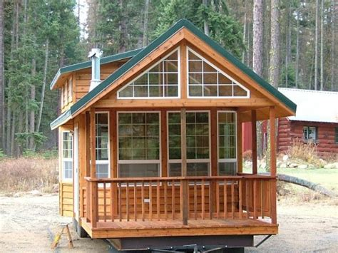 large tiny house plans spacious cabin on wheels with large windows tiny house pins
