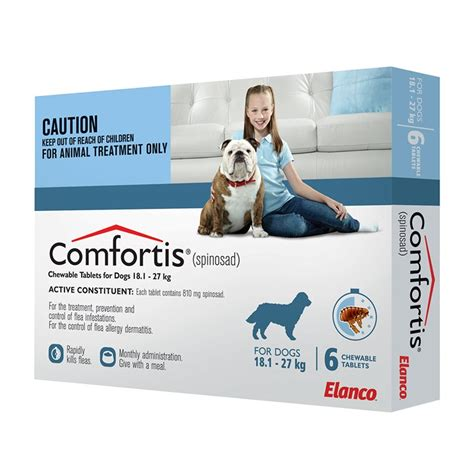 comfortis for puppies comfortis 18 1 27kg blue 6pack 810mg
