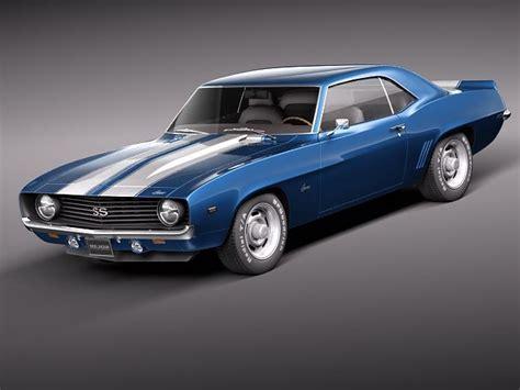 camaro ss 201 chevrolet camaro ss 1969 3d model